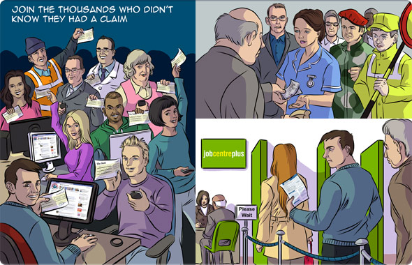 Illustrations to tell stories of case studies